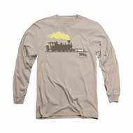 Back To The Future III Shirt Pushing The Delorean Long Sleeve Sand Tee T-Shirt