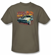 Back To The Future III T-shirt Wild West Adult Safari Green Tee Shirt