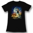 Back To The Future Juniors Shirt BTF Poster Black Tee T-Shirt