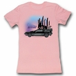 Back To The Future Juniors Shirt Car Light Pink Tee T-Shirt