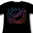 Back To The Future Juniors Shirt Rainbow Black Tee T-Shirt
