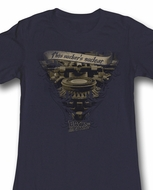 Back To The Future Juniors Shirt Very Elaborate Black Tee T-Shirt