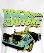 Back To The Future Juniors T-Shirt  BTF Neon White Tee Shirt