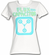 Back To The Future Juniors T-Shirt  Fun Flux White Tee Shirt