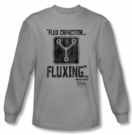Back To The Future Long Sleeve T-shirt Fluxing Silver Tee Shirt