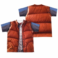 Back To The Future Mcfly Vest Sublimation Kids Shirt Front/Back Print