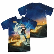 Back To The Future Movie Poster Sublimation Shirt Front/Back Print