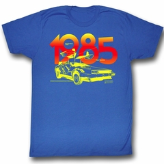 Back To The Future Shirt 1985 Adult Royal Tee T-Shirt