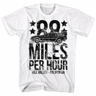 Back To The Future Shirt 88 Miles Per Hour White T-Shirt