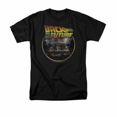 Back To The Future Shirt Back Adult Black Tee T-Shirt