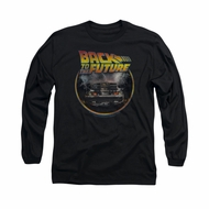 Back To The Future Shirt Back Long Sleeve Black Tee T-Shirt