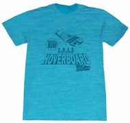 Back To The Future Shirt Blue Hoverboard 2015 Turquoise T-Shirt