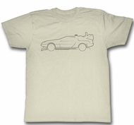 Back To The Future Shirt Car Sketch Natural T-Shirt