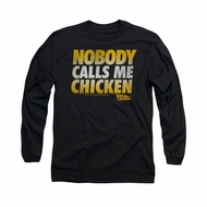 Back To The Future Shirt Chicken Long Sleeve Black Tee T-Shirt