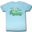 Back To The Future Shirt Delorean Chillin Adult Turquoise Tee T-Shirt
