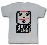 Back To The Future Shirt Flux Capacitor Silver T-Shirt