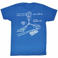 Back To The Future Shirt Flux Sketch Adult Royal Tee T-Shirt