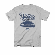 Back To The Future Shirt Gigawatts Adult Silver Tee T-Shirt
