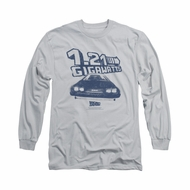Back To The Future Shirt Gigawatts Long Sleeve Silver Tee T-Shirt