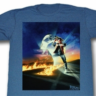 Back To The Future Shirt Go Go Go Adult Blue Tee T-Shirt