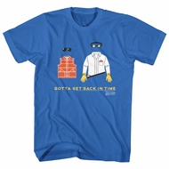Back To The Future Shirt Gotta Get Back In Time Royal Blue T-Shirt