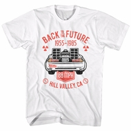Back To The Future Shirt Hill Valley CA White T-Shirt