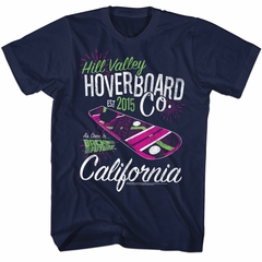 Back To The Future Shirt Hill Valley HoverBoard Co Navy T-Shirt