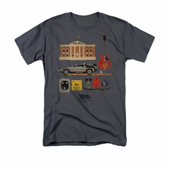 Back To The Future Shirt Items Adult Charcoal Tee T-Shirt