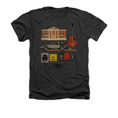 Back To The Future Shirt Items Adult Heather Charcoal Tee T-Shirt