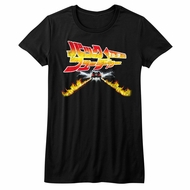 Back To The Future Shirt Juniors Back To Japan Black T-Shirt