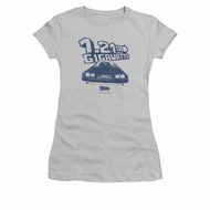 Back To The Future Shirt Juniors Gigawatts Silver Tee T-Shirt