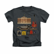 Back To The Future Shirt Kids Items Charcoal Youth Tee T-Shirt