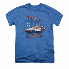 Back To The Future Shirt Lightning Strikes Adult Deep Sea Heather Tee T-Shirt