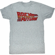 Back To The Future Shirt Movie Logo Adult Grey Heather Tee T-Shirt
