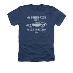 Back To The Future Shirt Other Ride Adult Heather Navy Tee T-Shirt