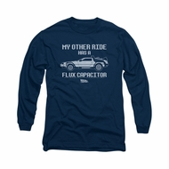 Back To The Future Shirt Other Ride Long Sleeve Navy Tee T-Shirt