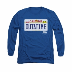 Back To The Future Shirt Outatime Long Sleeve Royal Blue Tee T-Shirt