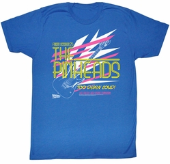 Back To The Future Shirt The Pinheads Adult Royal Tee T-Shirt