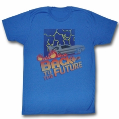 Back To The Future Shirt Pixel Royal Blue T-Shirt