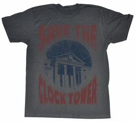 Back To The Future Shirt Saves the Day Adult Charcoal Tee T-Shirt