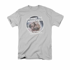 Back To The Future Shirt Synchronize Watches Adult Silver Tee T-Shirt