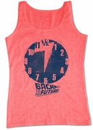 Back To The Future Shirt Tank Top Clock Heather Red Tanktop