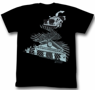 Back To The Future Shirt The Clock Tower Adult Black Tee T-Shirt