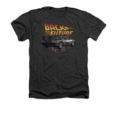Back To The Future Shirt Time Machine Adult Heather Charcoal Tee T-Shirt