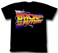 Back To The Future Shirt Welcome Adult Black Tee T-Shirt