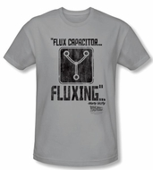 Back To The Future Slim Fit T-shirt Fluxing Adult Silver Tee Shirt