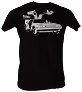 Back To The Future T-Shirt – Car Black Adult Tee Shirt