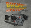 Back To The Future T-Shirt Car De Lorean Adult Gray Tee Shirt