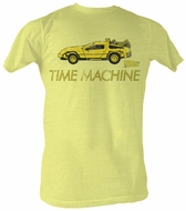 Back To The Future T-Shirt – Delorean Bright Yellow Adult Tee Shirt