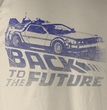 Back To The Future T-Shirt – Future Fade Dirty White Adult Tee Shirt